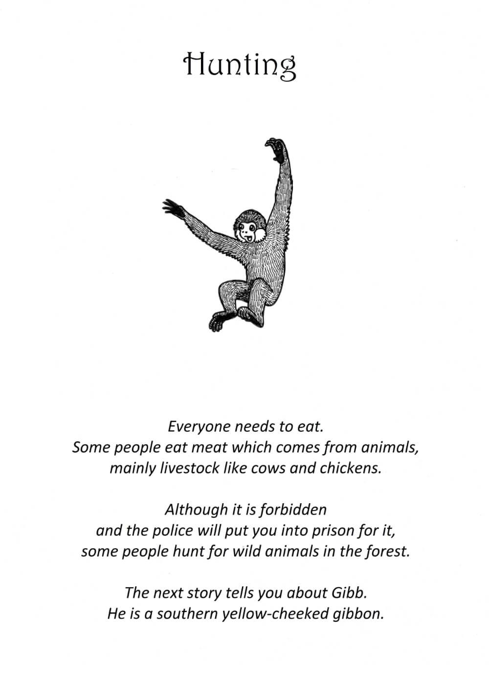 Tails of Cambodia - Primate conservation education book - Copyright Brenda de Groot